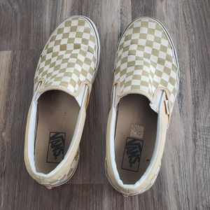Vans Slip Ons Men Sz 9 Women 10.5